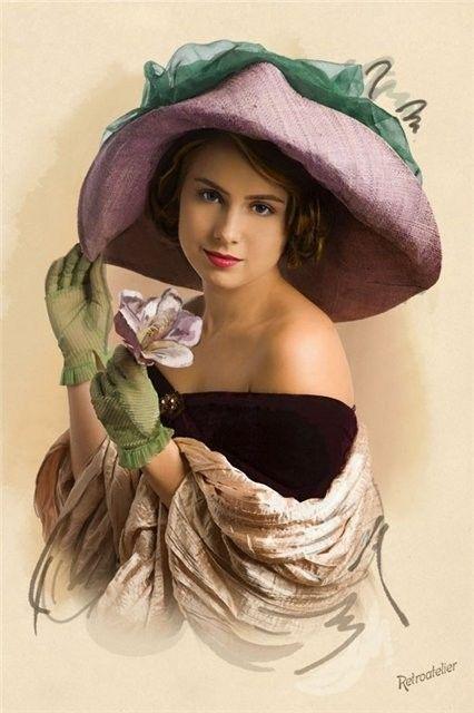 Souvent portrait de femme aux chapeaux - Page 2 MO22