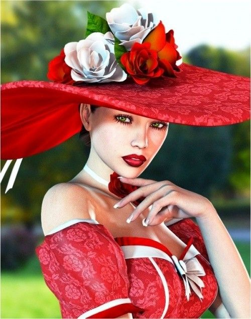 Souvent portrait de femme aux chapeaux MO22